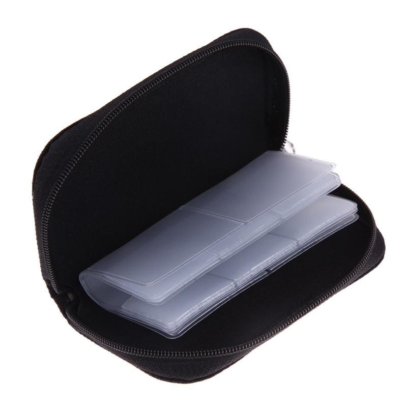 Black Memory Card Storage Carrying Case Holder Wallet For CF/SD/SDHC/MS/DS 3DS/Memory Stick Pro Duo/MiniSD/ MicroSD Game card phantom 3 4 inspire1 osmo x5 3 accessories aluminum carrying bag box holder protector sd sdhc cf memory card case