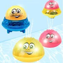 Бассейн игры Младенческая Детская электрическая индукционная игрушка поливальная машина светильник детская игрушка для ванны игрушки для бассейна