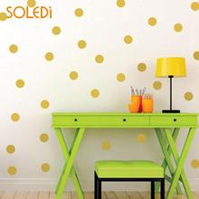 Nordic Style Wall Sticker 1pc Gold Polka Dots Removable Decals Home Decoration Art Vinyl For Kids Room