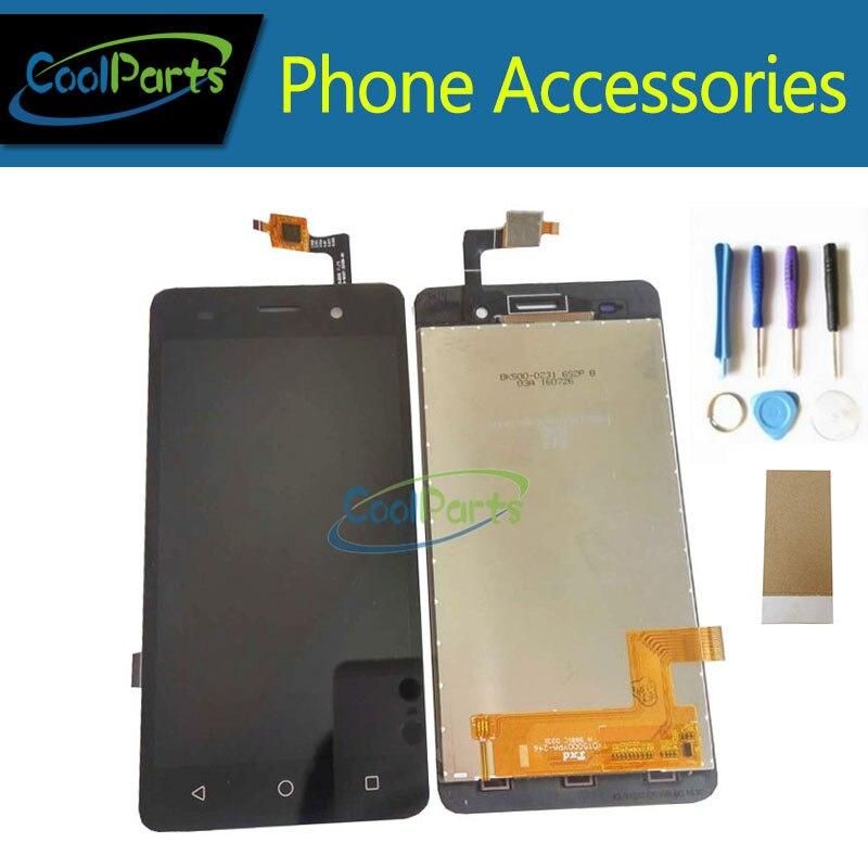 1 Pz/lotto Per BQ BQS-5020 BQS 5020 Sciopero LCD Screen Display E Touch Digitizer Assembly Con Strumenti e Nastro Adesivo Nero colore