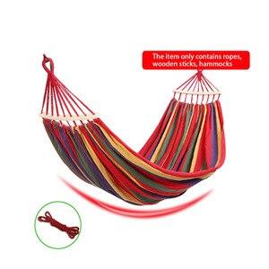 Image 2 - Mobiliário externo tecido de lona, barra de espalhador de madeira dupla, vara, rede, barraca de acampamento ao ar livre, balanço, cama para dois pessoas
