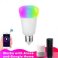 WiFi Led Bulb Dimmer Smart RGBW Light Bulbs Remote Control Wifi Light Switch Led Color Changing Light Bulb Works With Alexa