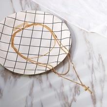 Christian Jewelry Layered Iron Cross Choker Necklace