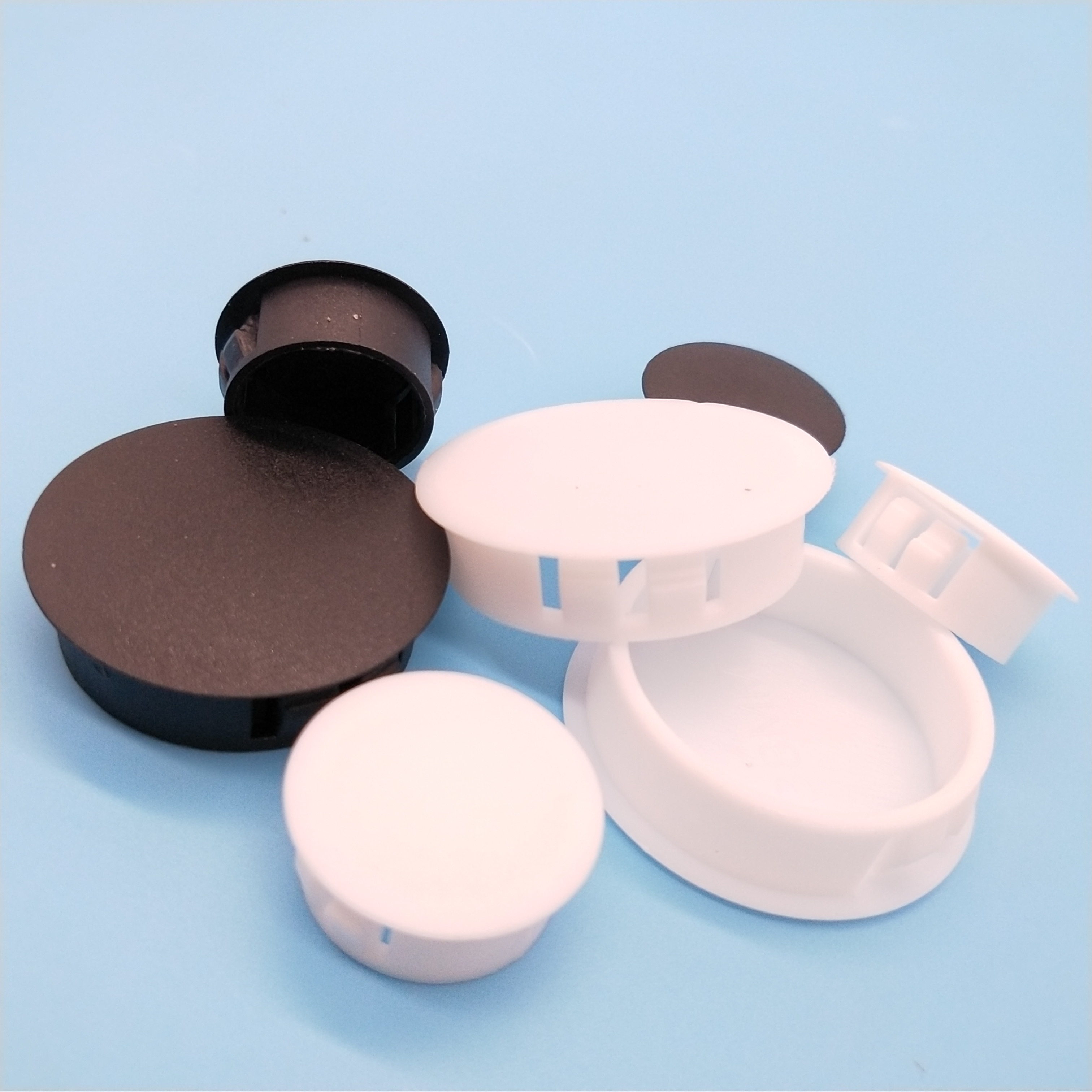 10 Hole Cover Plugs 6mm IROX Black Plastic Hole Depth 10mm Head 9mm Cap Cover Hole for Furniture 6mm