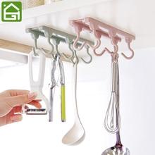 Cocina armario 6 gancho organizador despensa pecho herramientas toallas  percha ropa de armario de almacenamiento( 5018a2a871bd