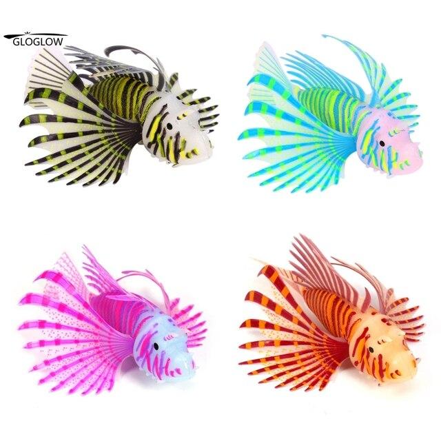 4 Colors Fish Tank Aquarium Landscaping Decoration Glow Silicone