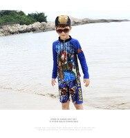 Iron Man Jungen Ansturm Wächter Badeanzüge für Jungen Kinder Bademode mit Kappe hohe Qualität Streifen Ansturm Wächter Baby Jungen Surf 2-12 Jahre