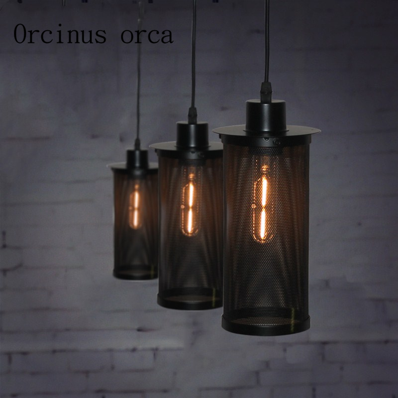 цены Nordic retro industrial wind single head chandeliers creative bars cafes restaurants clothing stores chandeliers Postage free