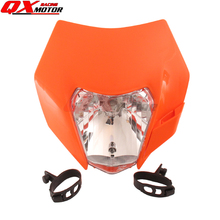 Dirt Bike Motocross Supermoto Motorcycle Universal Headlight 12V 35W for 14-16 KTM SX F EXC XCF SMR Headlamp Free shipping powerzone headlight for ktm sx exc xcw xcf sxf smr motorcycle dirt bike motocross supermoto enduro headlamp headlight fairing