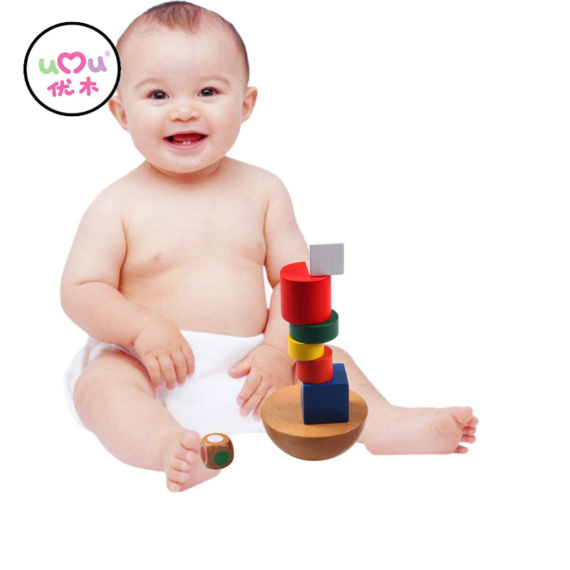 Wooden Toys Hemisphere Balance Stacking Game Toys for Children Educational Toy Building Blocks Kids Baby Toys UJ1287H