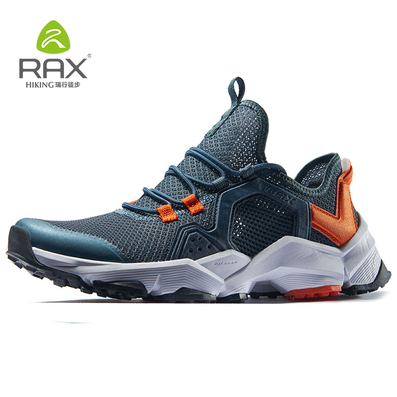 RAX Running Shoes Men&Women Outdoor Sport Shoes Breathable Lightweight Sneakers Air Mesh Upper Anti-slip Natural Rubber Outsole Сникеры