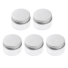 5x Empty Cosmetic Pots Lip Balm Container Jar Aluminum Cover 100 ml 68x43 mm