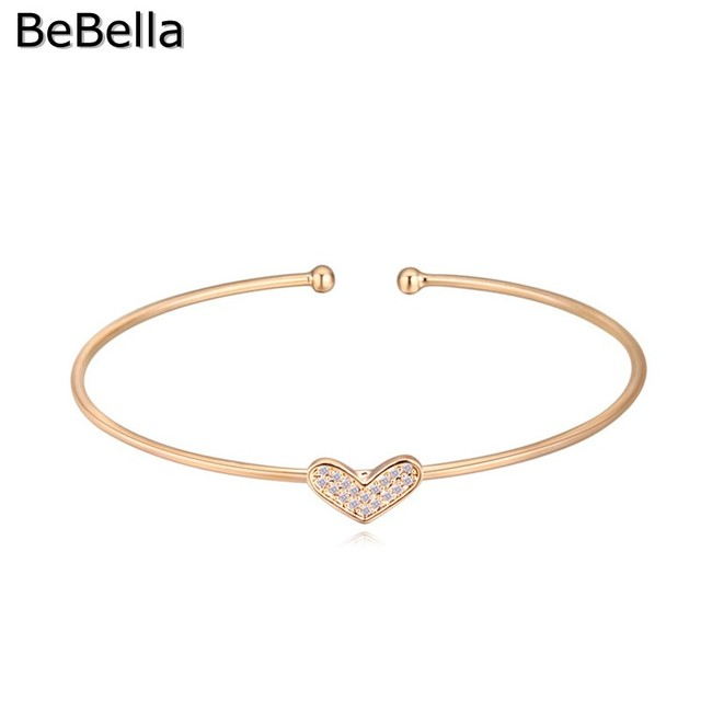 BeBella 3 Colors Heart Cuff...