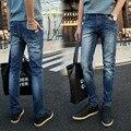 Весенние джинсы мужские случайные промывочной воды хлопок прямые брюки мужская одежда брюки 2060 p50