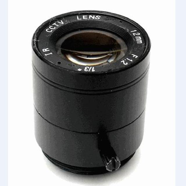 "Fixed Iris Lens CS 1/3""  F1.2 12mm  cctv camera lens for CCTV cheap home surveillance system Smart security SL-1212F"