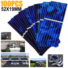 New 100pcs 0.5V 320mA Solar Battery Panels Cell DIY Charge 52*19mm Set High Quality