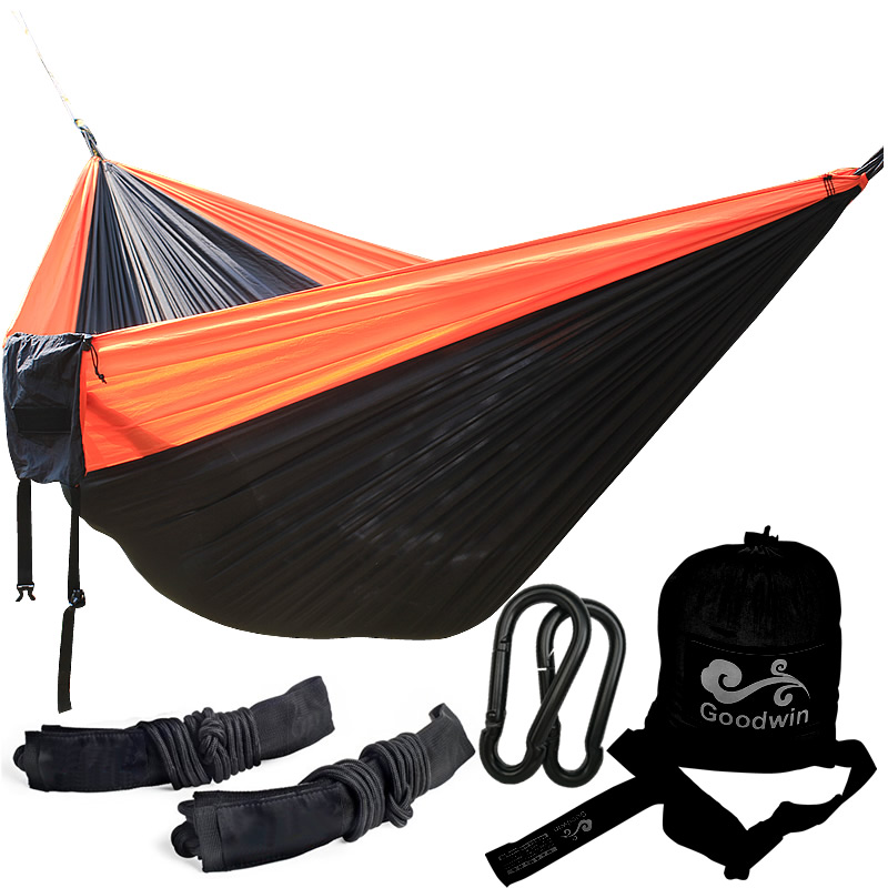 Double Person Hammock Parachute Portable Outdoor Camping Indoor Home Garden Sleeping Hammock Bed 300kg Max Loading Free Shipping wholesale portable nylon parachute double hammock garden outdoor camping travel survival hammock sleeping bed for 2 person
