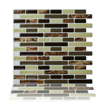 ФОТО Cocotik 3D Wall Sticker for Peel and Stick Wall Tiles Kitchen Backsplash Tile 105x10 Resin Sticker Wall Paper-10 Tiles/ pack