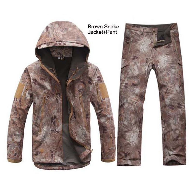 Tactical Gear Softshell Camouflage Outdoors Jacket Men Army Waterproof Warm Camo Hunt Clothes Windbreaker Coat Military Jackets