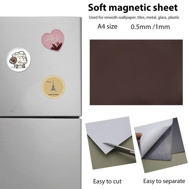 Магнит 1800T резиновый магнит мягкий магнитный лист Магнитная полоска кусок практичный Холодильник Магнитные столбы инструменты