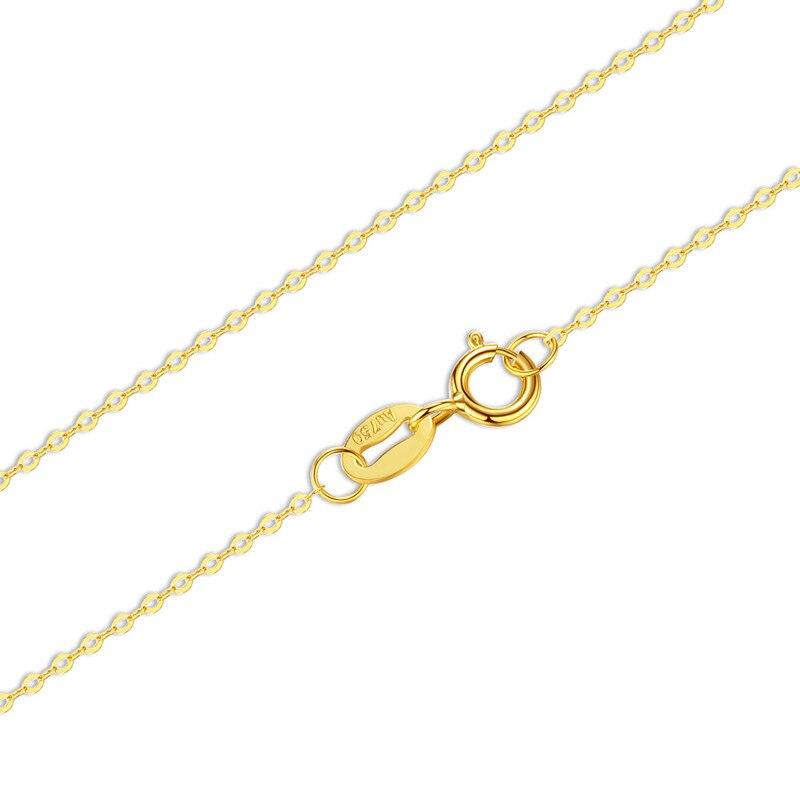2018 nouveau chaud véritable 18 K blanc jaune or O chaîne 18 pouces/45 CM AU750 prix de revient collier pendentif cadeau de fête de mariage pour les femmes