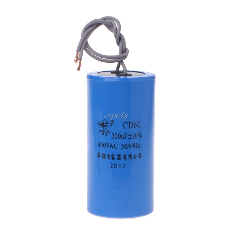 250-450V AC 200uF Appliance Motor Start Run Capacitor CD60 High Quality Hot Whosale&Dropship