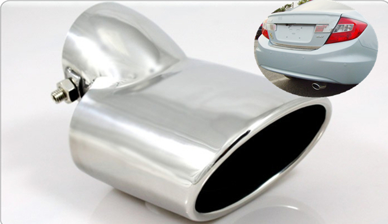 Funduoo Stainless Steel Exhaust Muffler Tip End Pipe For Honda Civic 2012 2013 2014 Free Drop: Civic Stainless Exhaust At Woreks.co