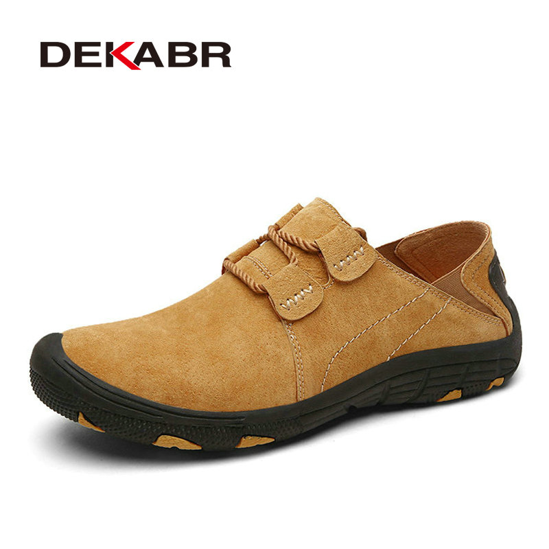 DEKABR Brand New Causal Suede Leather Men Shoes Brand Fashion Men Flats Breathable Stylish Footwear Spring Autumn Shoes Men 2016 new men s leather shoes men spring autumn men s oxford shoes flats hot sale tide brand men shoes