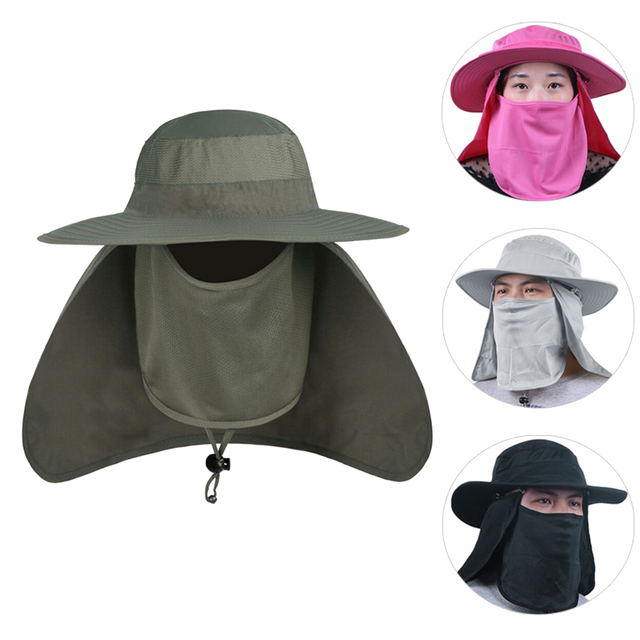 2018 Summer Hot High Quality Bucket Hats Wide Brim For Men Women Fishing  Camping Hunting Camouflage 324050e7c31a
