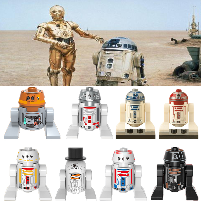Single Sale Legoelys Star Wars Robot C3Po R2D2 C-3Po R2-D2 R4-Go Bb8 Luke Leia Figures Building Blocks Toys For Children