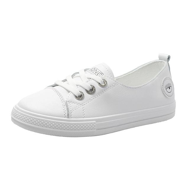 plus tard profiter de gros rabais Achat/Vente € 41.2  Été peu profond unique chaussure femme 2019 nouveau Style étudiant  à semelle plate petites chaussures blanches Version coréenne Baitao loisirs  ...