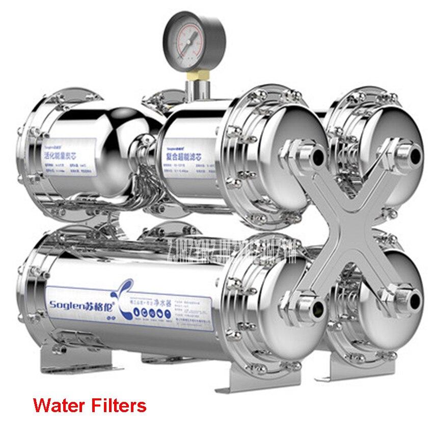 Aço inoxidável Filtro de Água Da Membrana de Ultrafiltração Purificador De Água Sem Eletricidade Beber Direto Filtro UF SG-TS-1000