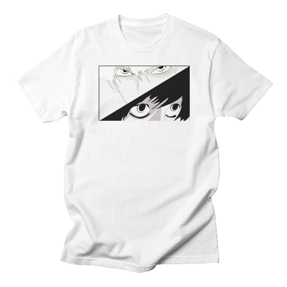 Careful Death Note L White T Shirt Men Cotton Anime Casual Fashion Streetwear Harajuku High Qualityround Neck Tshirts Mens Short Sleeve T-shirts Tops & Tees