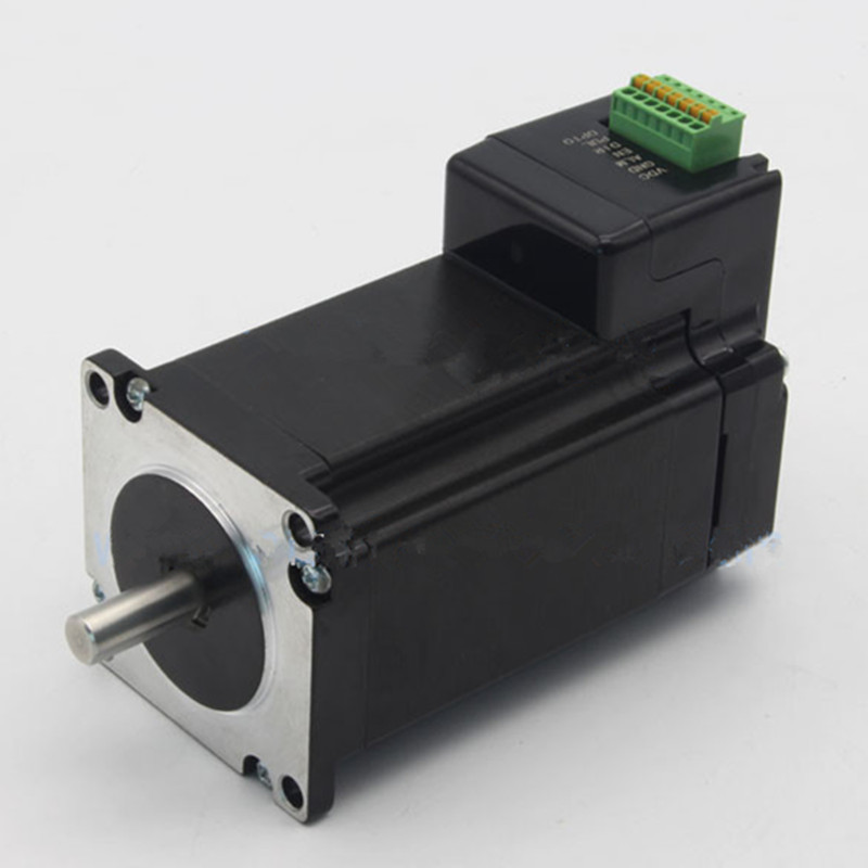 NEMA 23 Stepper Motor+Drive All-in-One Kit 112mm 3Nm 4.2A 24~48VDC Integrated Drive Stepping Motor toothed belt drive motorized stepper motor precision guide rail manufacturer guideway