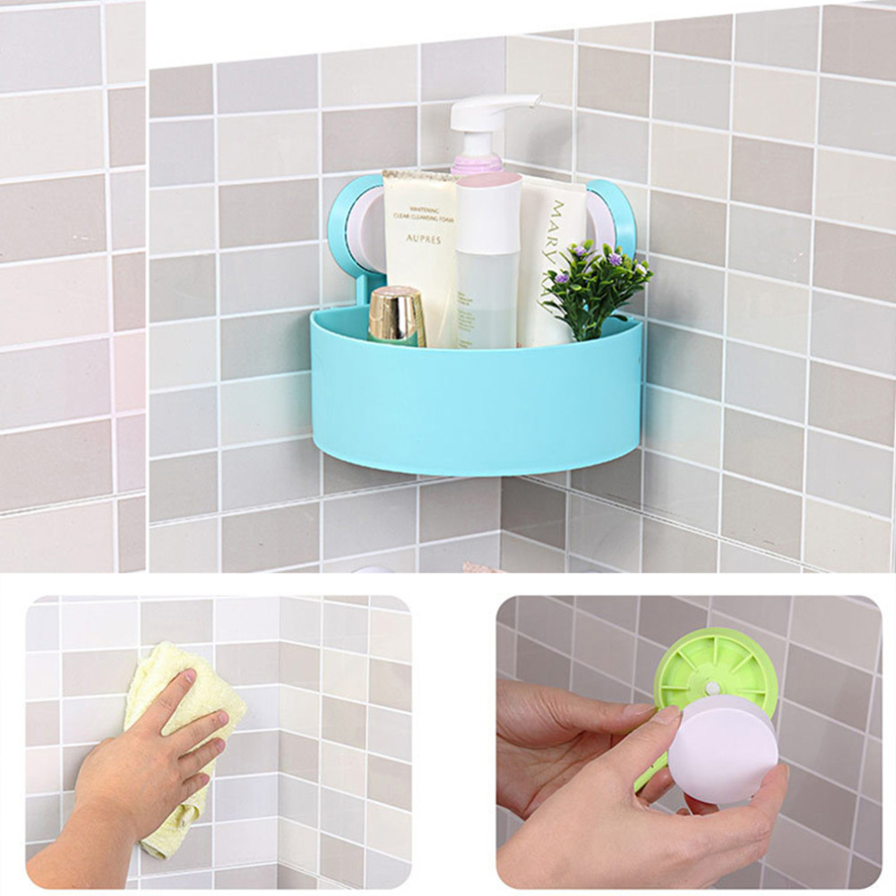Lovely Bathroom Corner Storage Rack Organizer Shower Wall Shelf with ...
