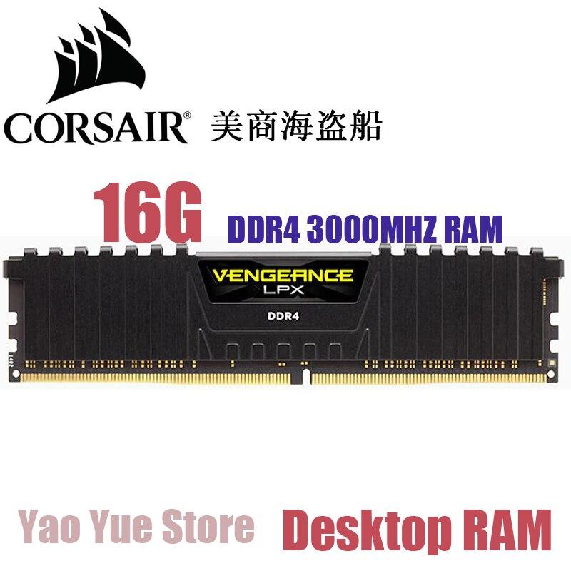 CORSAIR Vengeance LPX 16GB 16G DDR4 PC4 3000MHZ PC computer Desktop RAM ECC memory 16GB RAM corsair xms3 cmx4gx3m1a1600c9 memory bank