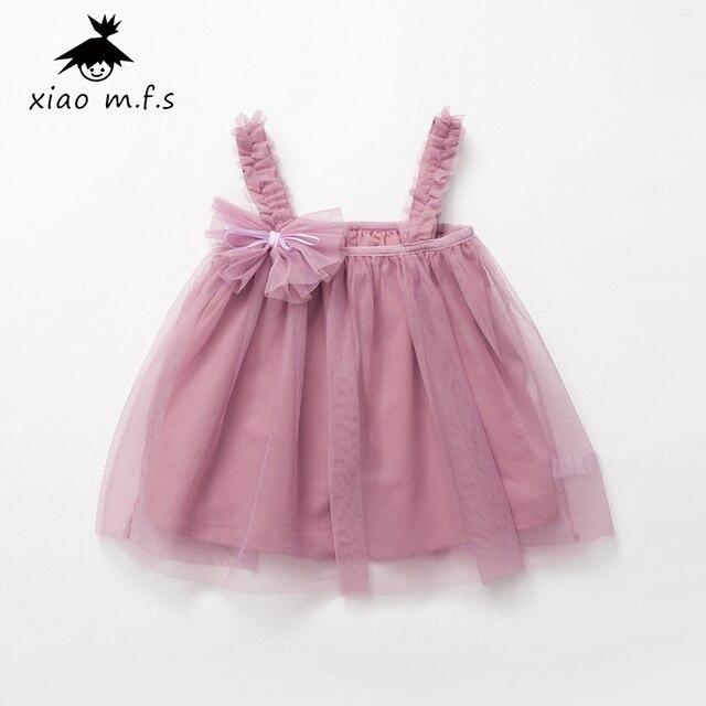 1ba27e1e26061 Bébé Filles Maille Robes Plage D été Marque Partie 3D Arc Princesse Robe  Pour Les