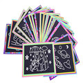 (22pcs/lot) Hot Drawing Toys Scraping Painting 26cm*19cm Color Learning Educational  Baby Children Kids Toys DIY Gifts PS06