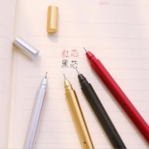 Image 4 - Jonvon Satone 50 шт., креативная гелевая ручка с металлической ручкой, ручки для письма, канцелярские принадлежности, Canetas Material Escolar, канцелярские принадлежности