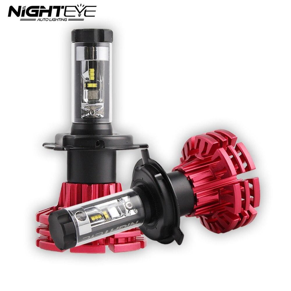 Nighteye Auto Éclairage H4 HB2 9003 Voiture LED Phares 60 W 10000LM Salut/Croisement Phares Anti-Brouillard Lampes Ampoules 3000 K 6500 K 8000 K D45