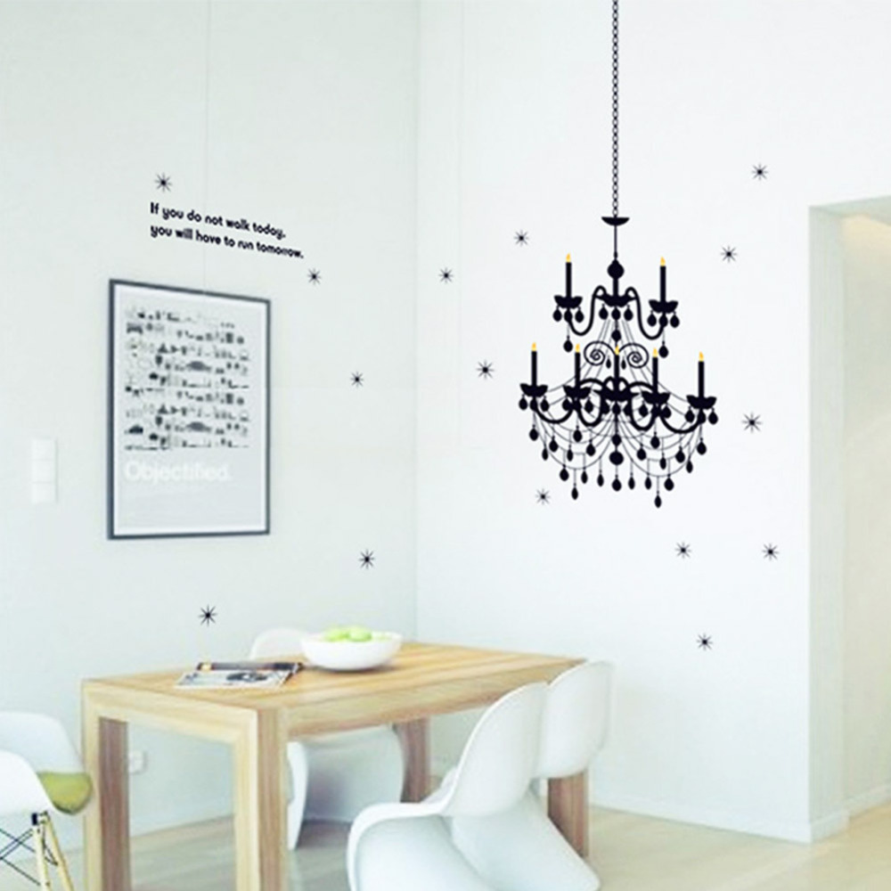 Grand chandelier light fancy stars home decals wall stickers vinyl grand chandelier light fancy stars home decals wall stickers vinyl art words quote art bedroom classy girls room decor poster in wall stickers from home amipublicfo Gallery