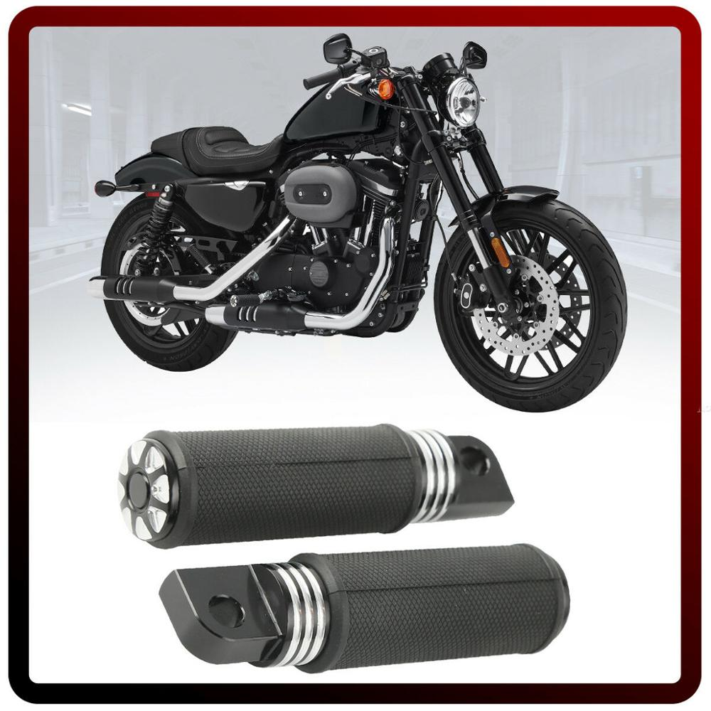Motorcycle Pair CNC Aluminum Male Mount Foot Pegs For Harley Touring Dyna Sportster XL1200 883 Softail New