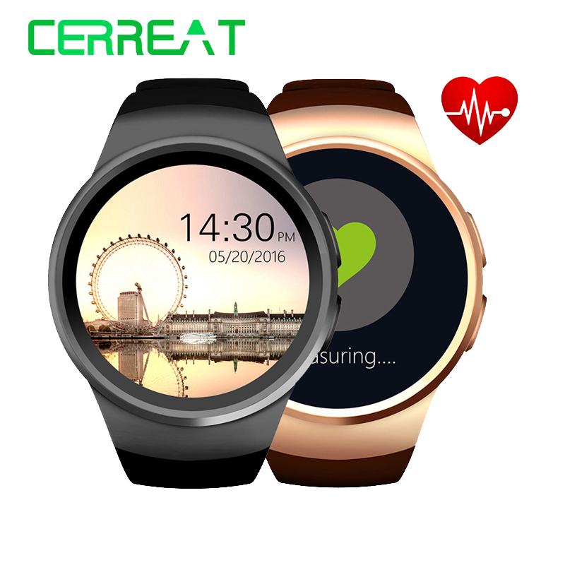 KW18 Bluetooth Smart Watch TK2502C 1.3 inch HD IPS Wristwatch SIM TF Card Slot Heart Rate Monitor Reloj Inteligente Smartwatch heart rate smart watch wristwatch reloj inteligente z01 support 3g sim tf card wifi gps mp3 mp4 fitness traker bluetooth camera
