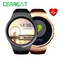KW18 Bluetooth Smart часы TK2502C 1.3 дюймов HD IPS наручные SIM карты памяти слот сердечного ритма Мониторы Reloj inteligente SmartWatch