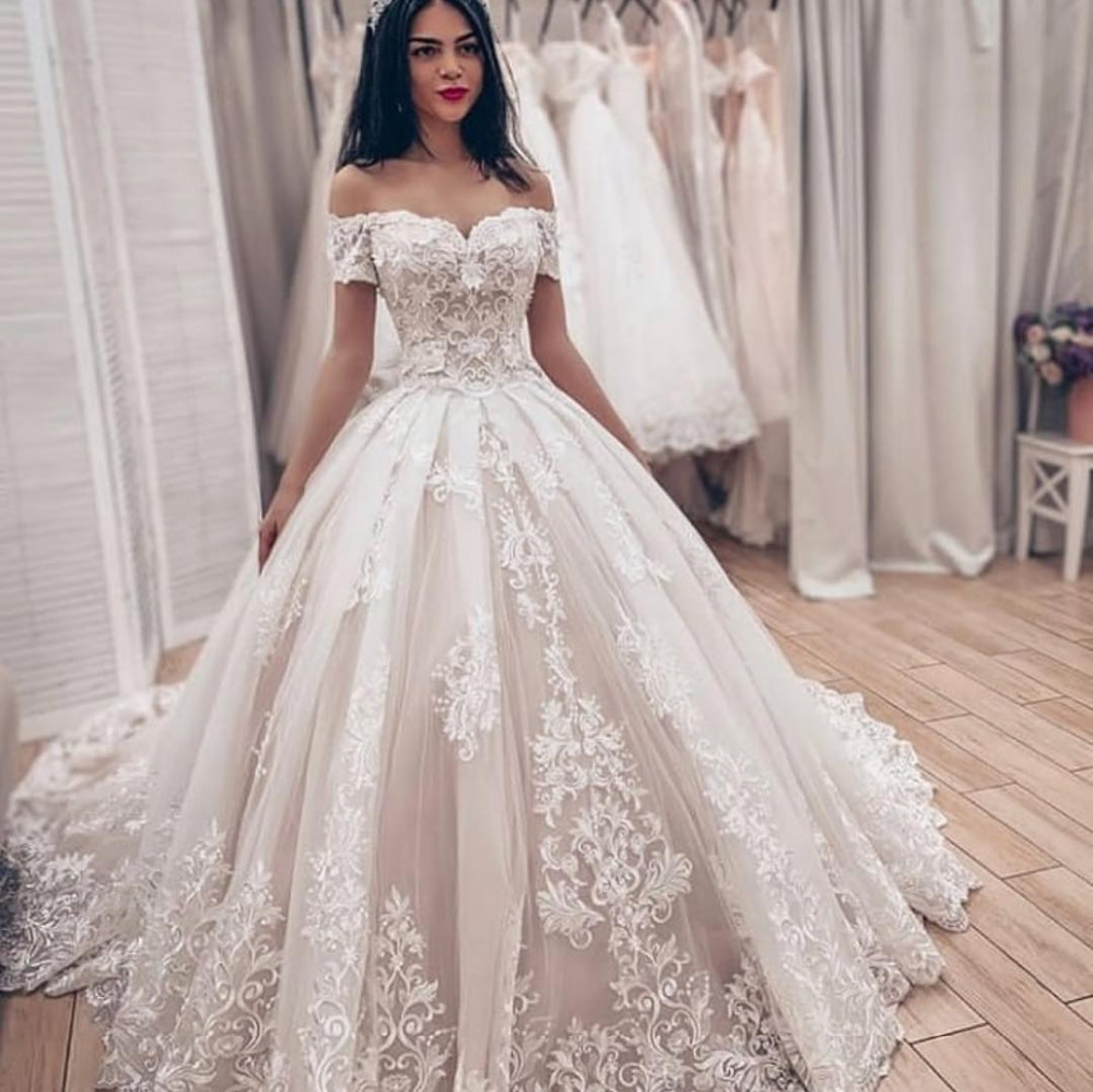 Crystal Wedding Gown: Eslieb Ball Gown High Quality Wedding Dress 2019