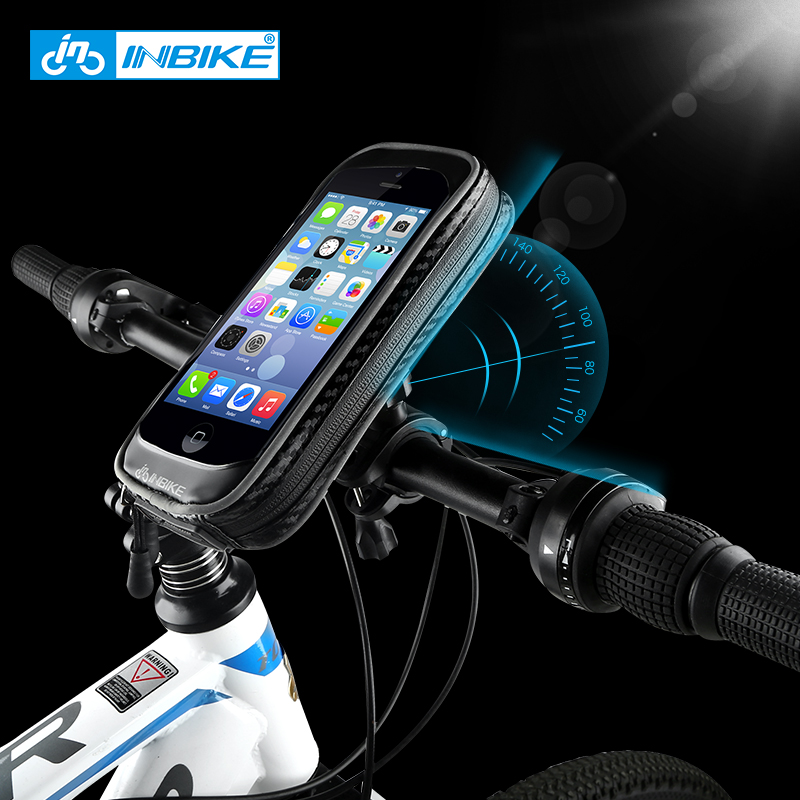 INBIKE Bicycle Front Touch Screen Phone Bag MTB Road Bike Cycling Mobile Bag Cycle Front Bag Cellphone Bag Bicycle <font><b>Accessories</b></font>