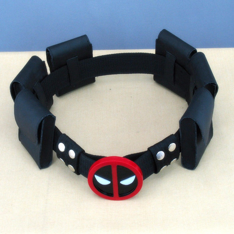 5 Teile/los Hohe Qualität Super Hero Deadpool Gürtel Mit 6 Beutel Bund Wade T. Wilson Unisex Halloween Cosplay Zubehör