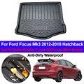 Автомобильные задние загрузки грузового лайнера багажник ковер коврики лоток ковры анти-грязный коврик для Ford Focus Mk3 2012-2017 2018 хэтчбек