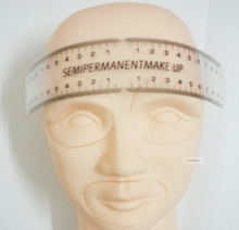1pc Professional Eyebrows Permanent Make Ruler Measure Eyebrow Length Munsu Portable And Not Easy Boken