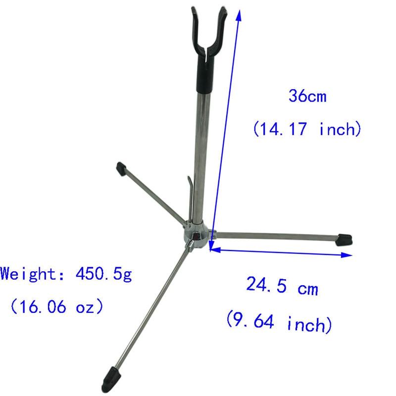 1 pièces tir à l'arc arc classique support traditionnel 3 jambes support en acier inoxydable arc Stand accessoires tir Sports de plein air - 2